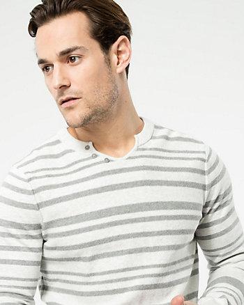 Stripe Cotton Sweater