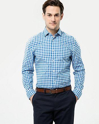 Check Cotton Athletic Fit Shirt