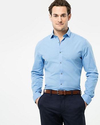 Tonal Cotton Slim Fit Shirt