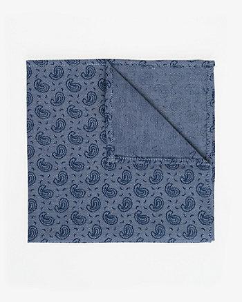 Paisley Print Cotton Pocket Square