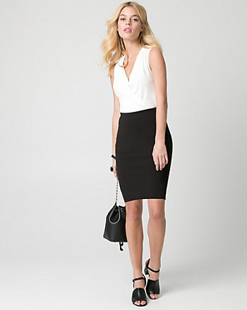 Knit Crêpe Pencil Skirt