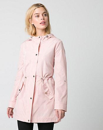 Woven Anorak Coat