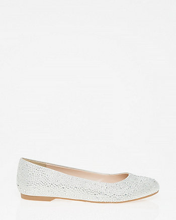 Jewel Embellished Ballerina Flat