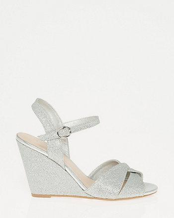 Glitter Mesh Peep Toe Sandal