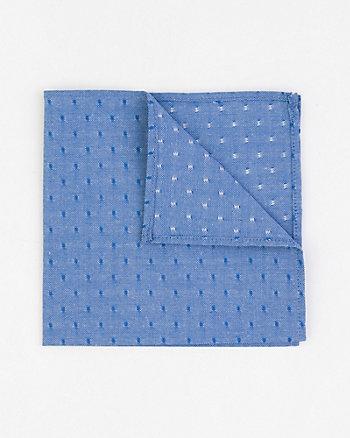 Cotton Blend Oxford Pocket Square