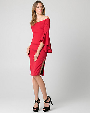 Double Weave Off-the-Shoulder Dress