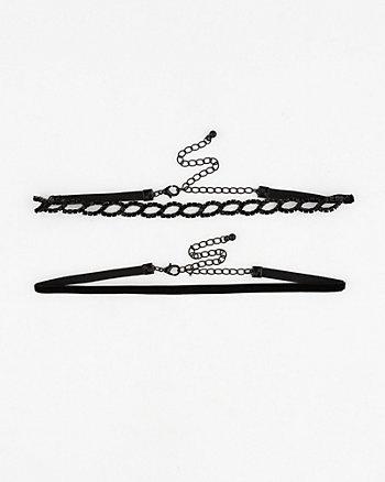 Gem & Velvet Choker Necklace