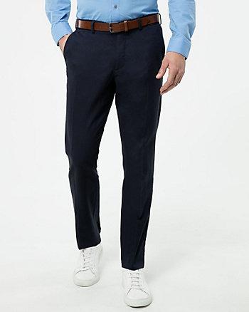 Cotton Blend Slim Leg Pant
