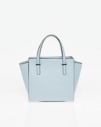 Saffiano Leather-Like Satchel