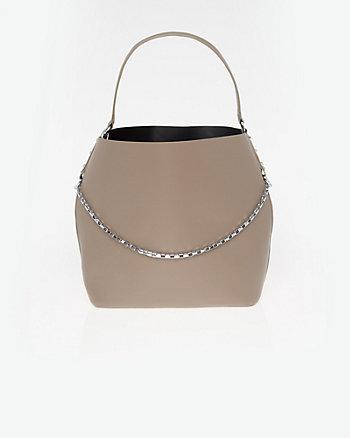 Leather-Like Hobo Bag