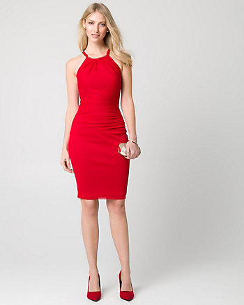 Knit Halter Cocktail Dress