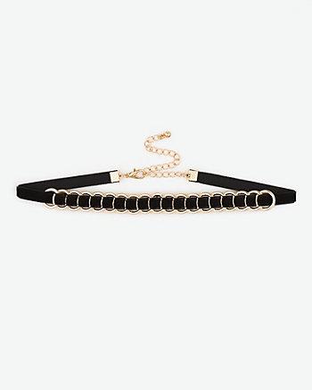 Chain & Velvet Bracelet