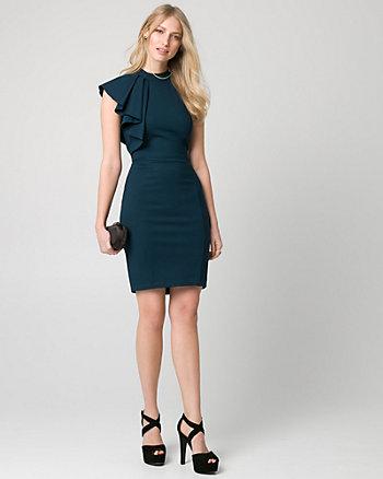 Ponte One Shoulder Dress