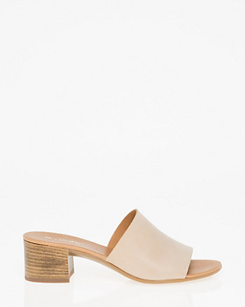 Leather Open Toe Mule