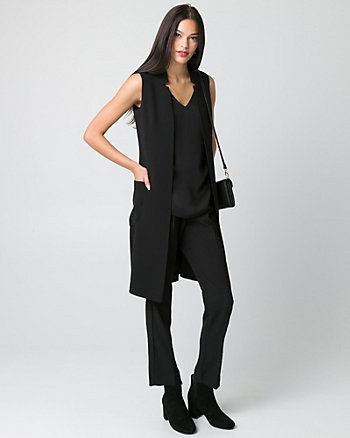 Tricoteen Inverted Collar Long Vest