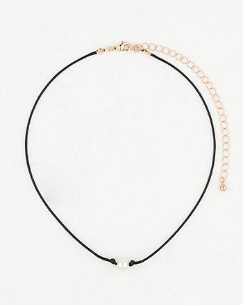 Pearl-Like Choker Necklace