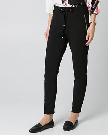 Knit Crêpe Slim Leg Pant