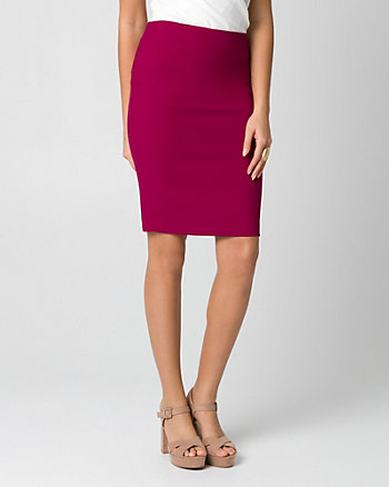 Piqué Pencil Skirt