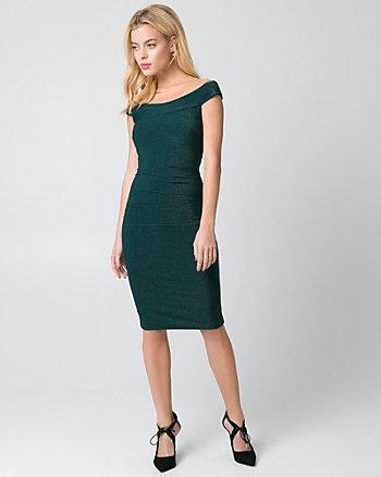 Sparkle Knit Off-the-Shoulder Dress