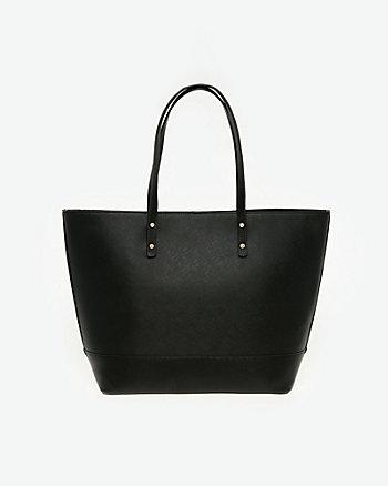 Saffiano Leather-Like Tote Bag