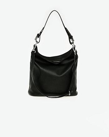 Pebble Leather-Like Hobo Bag