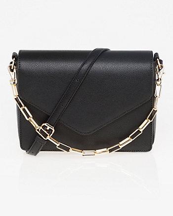 Pebble Leather-Like Crossbody Bag