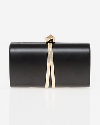 Leather-Like Minaudière