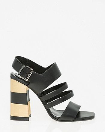 Italian-Made Leather Strappy Sandal