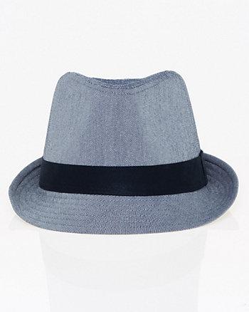 Stretch Twill Fedora Hat