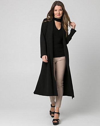 Double Weave Shawl Collar Duster Coat