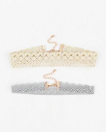 Set of Lace Choker Necklaces