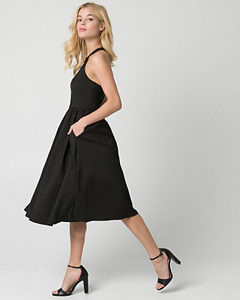 Satin Halter Cocktail Dress