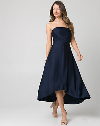 Satin Strapless Gown