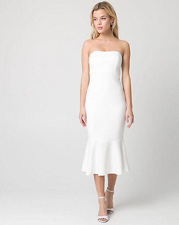 Crêpe Strapless Dress