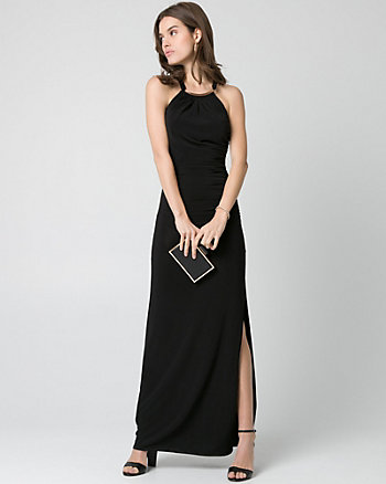 Knit Halter Gown