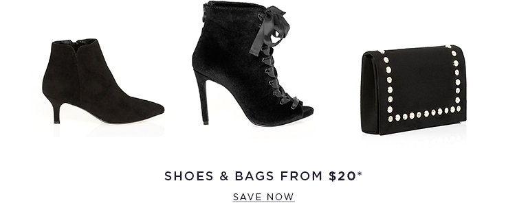 Shoes & bags from $10. SAVE NOW >