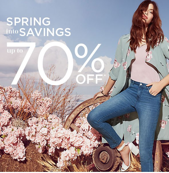 Spring into Savings Up to 70% Off*