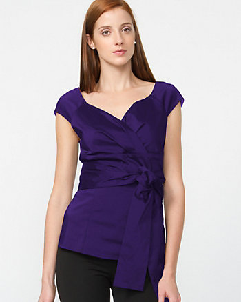Stretch Taffeta Blouse