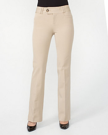 Cotton Gabardine Slight Flare Leg Pant