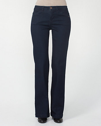 Flare Leg Denim Trousers