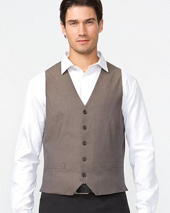 Blended Herringbone Vest