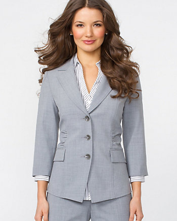 Ruched Fitted Blazer