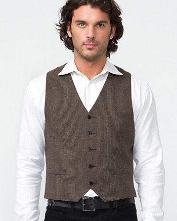 Striped Tweed Vest