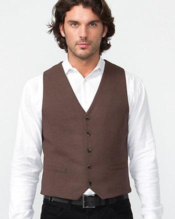 Herringbone Tweed Vest