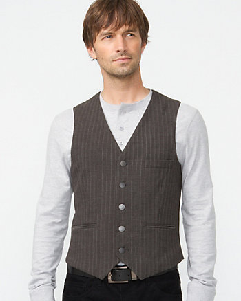 Striped Herringbone Vest