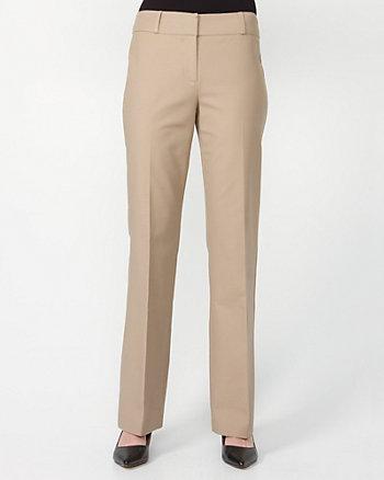 Cotton Double Weave Flare Leg Pants