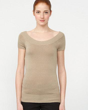 Linen Blend Round Neck Sweater