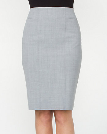 Contrast Stitching Pencil Skirt