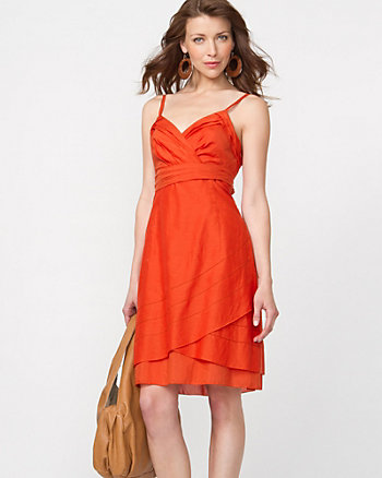 Cotton Silk Flowy Tank Dress