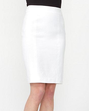 Linen Blend Pencil Skirt